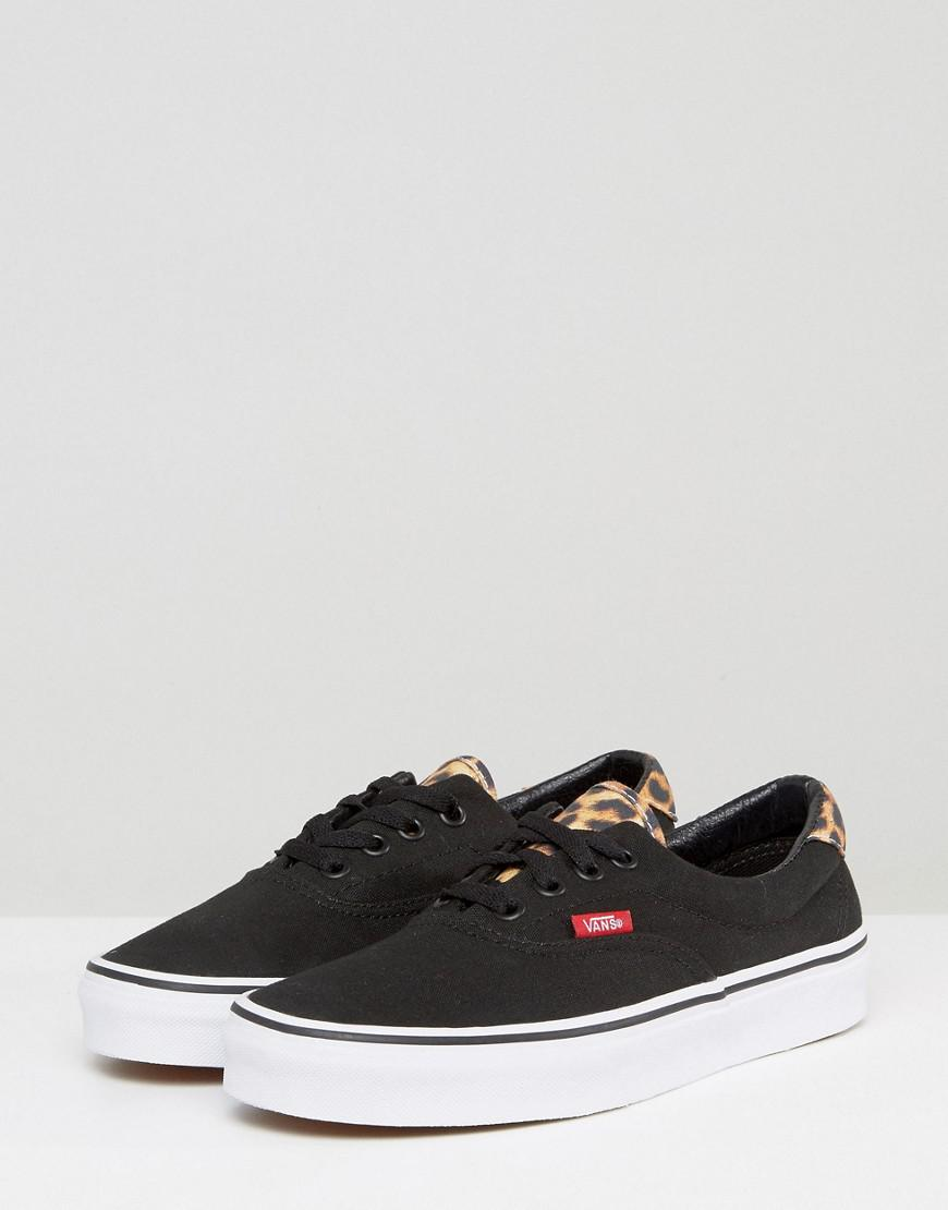 125285d6ea In Leopard Era Vans Sneakers Black Trim Lyst qSUqw1A
