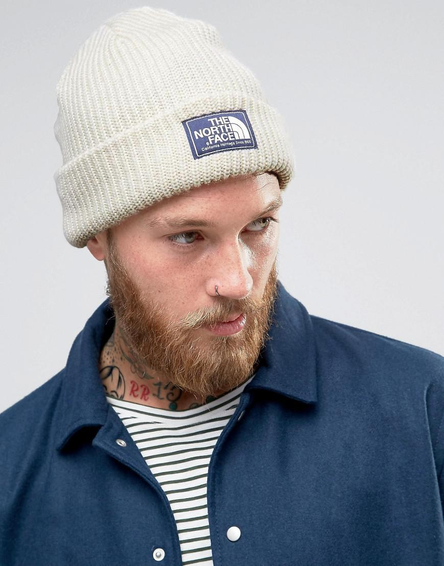 The North Face Salty Dog Beanie In White in White for Men - Lyst 621179ba428