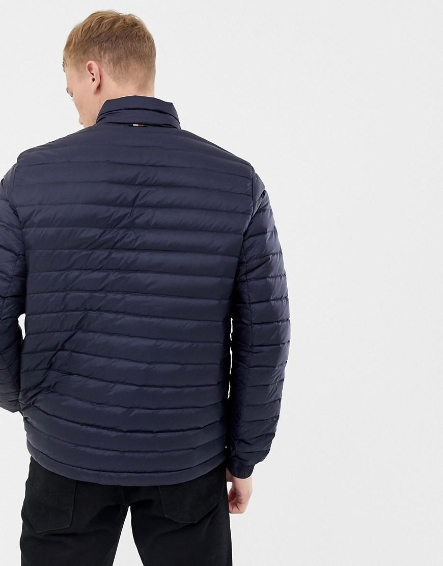 d1a2639f Tommy Hilfiger Lightweight Down Packable Puffer Jacket Flag Logo In Navy in  Blue for Men - Lyst