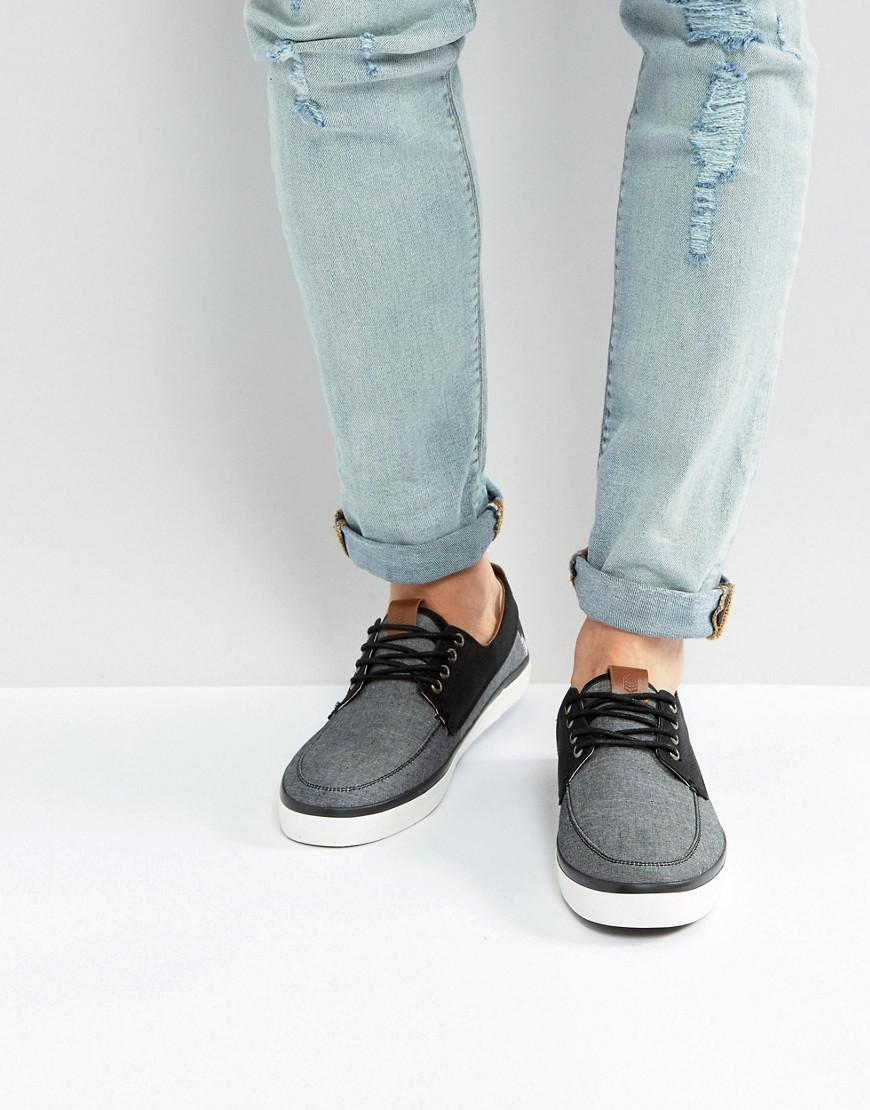 8debff3f6 Lyst - Call It Spring Neasen Chambray Boat Shoes in Black for Men