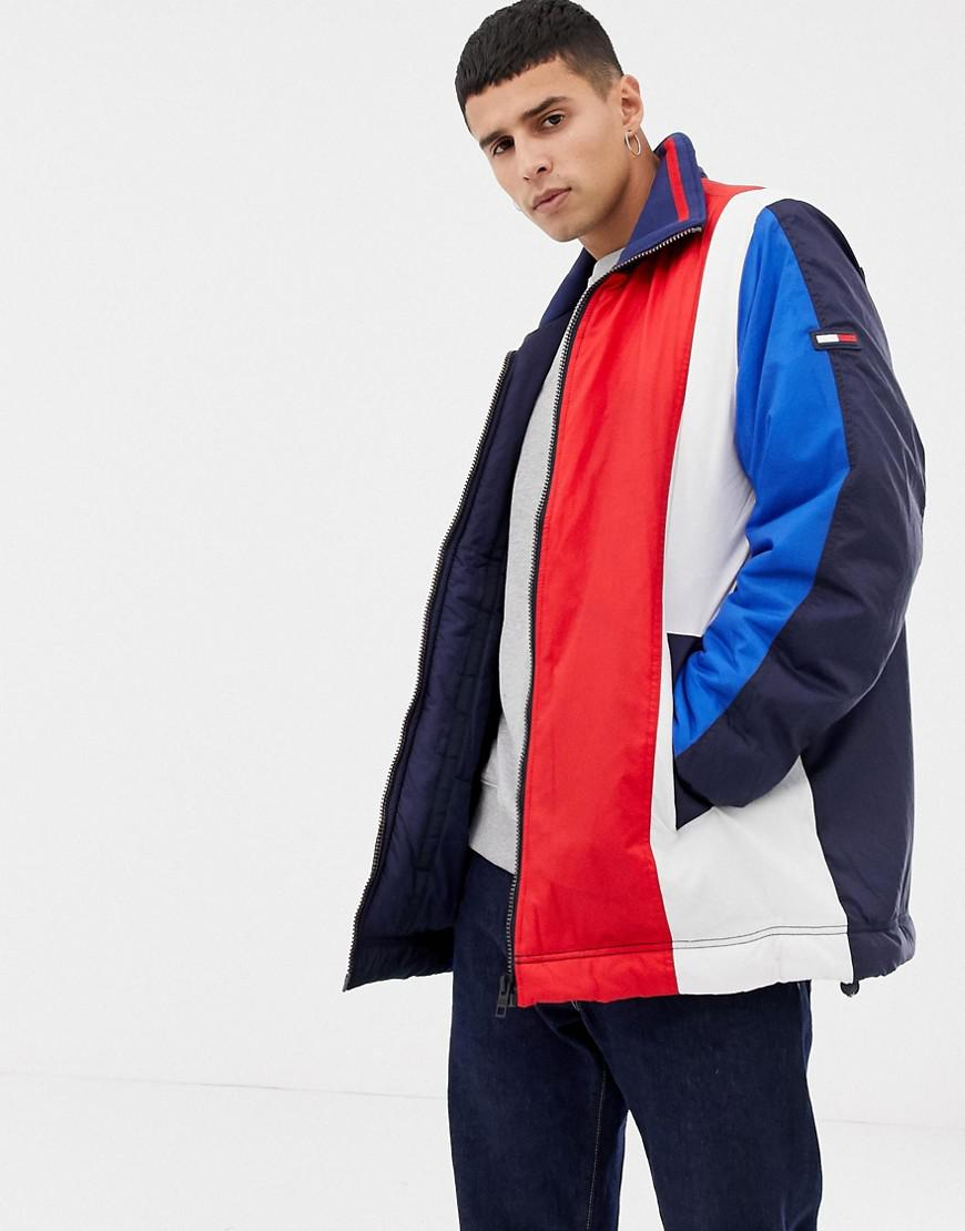 54e414e3e7ba Tommy Hilfiger Oversize Colourblock Jacket in Black for Men - Lyst