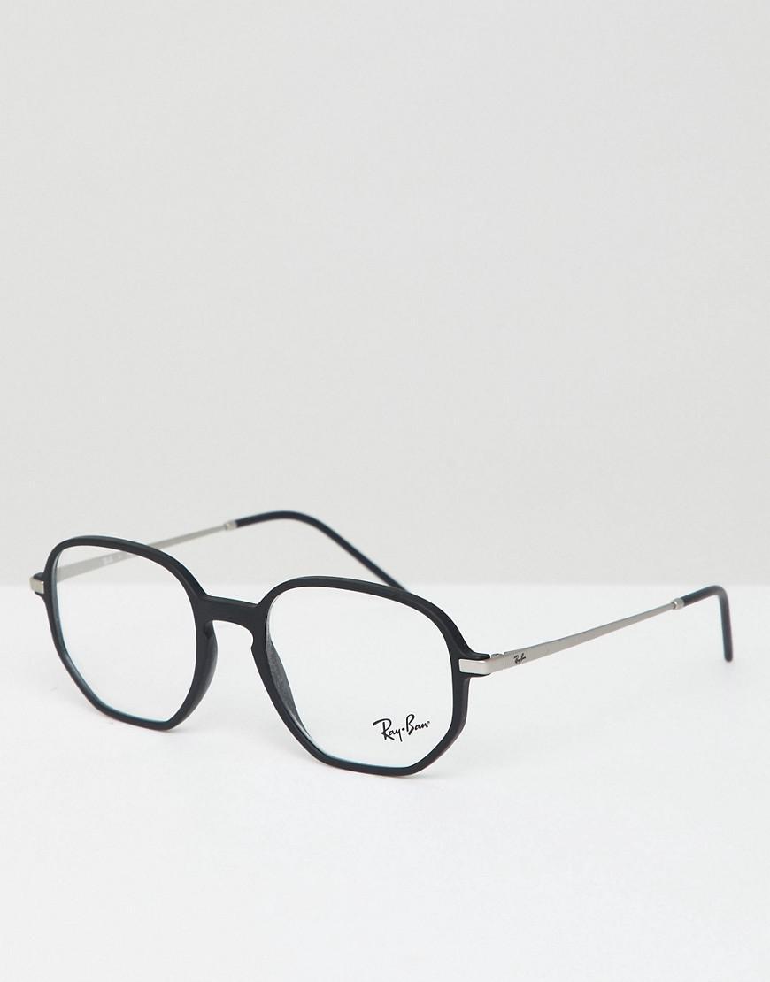 522f9526da Ray-Ban Hexagonal Optical Frames With Demo Lenses in Black for Men ...