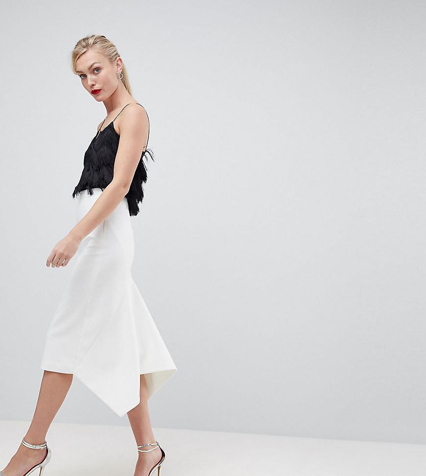 697f98728d ASOS Asos Design Tall Tailored Occasion Fishtail Midi Skirt in White ...