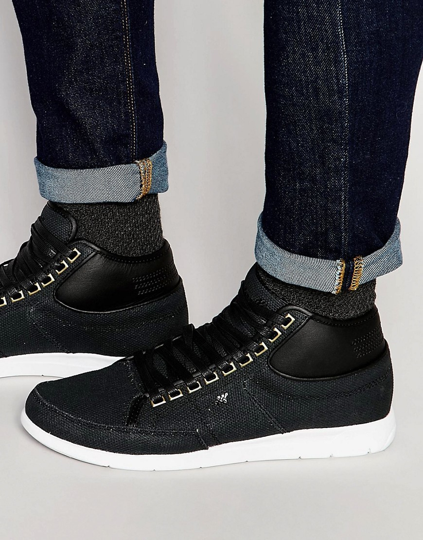 boxfresh swapp hi top sneakers in black for men lyst. Black Bedroom Furniture Sets. Home Design Ideas