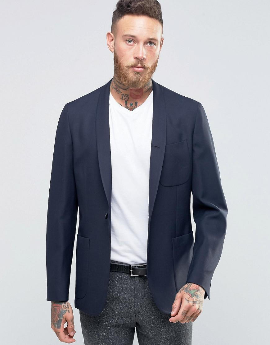 Hart Hollywood. Men's Blue By Nick Hart Slim Unlined Blazer With ...