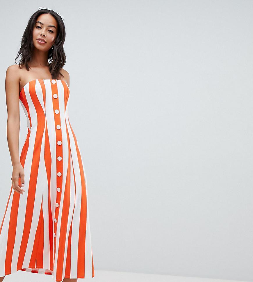 Asos Asos Design Tall Deckchair Stripe Button