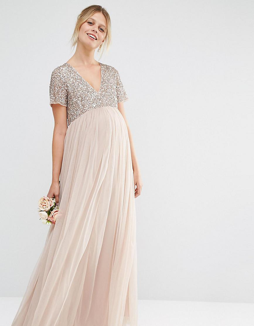 31bb878c90 Maya Long Sleeved Maxi Dress With Delicate Sequin And Tulle Skirt Review