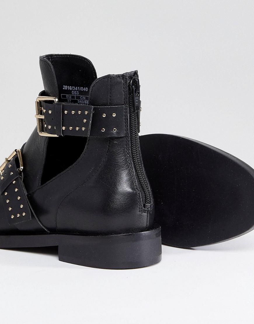 Multi Buckle Cut-out Boot - Black Stradivarius For Nice Sale Online With Credit Card Cheap Online lHnduEuvfk