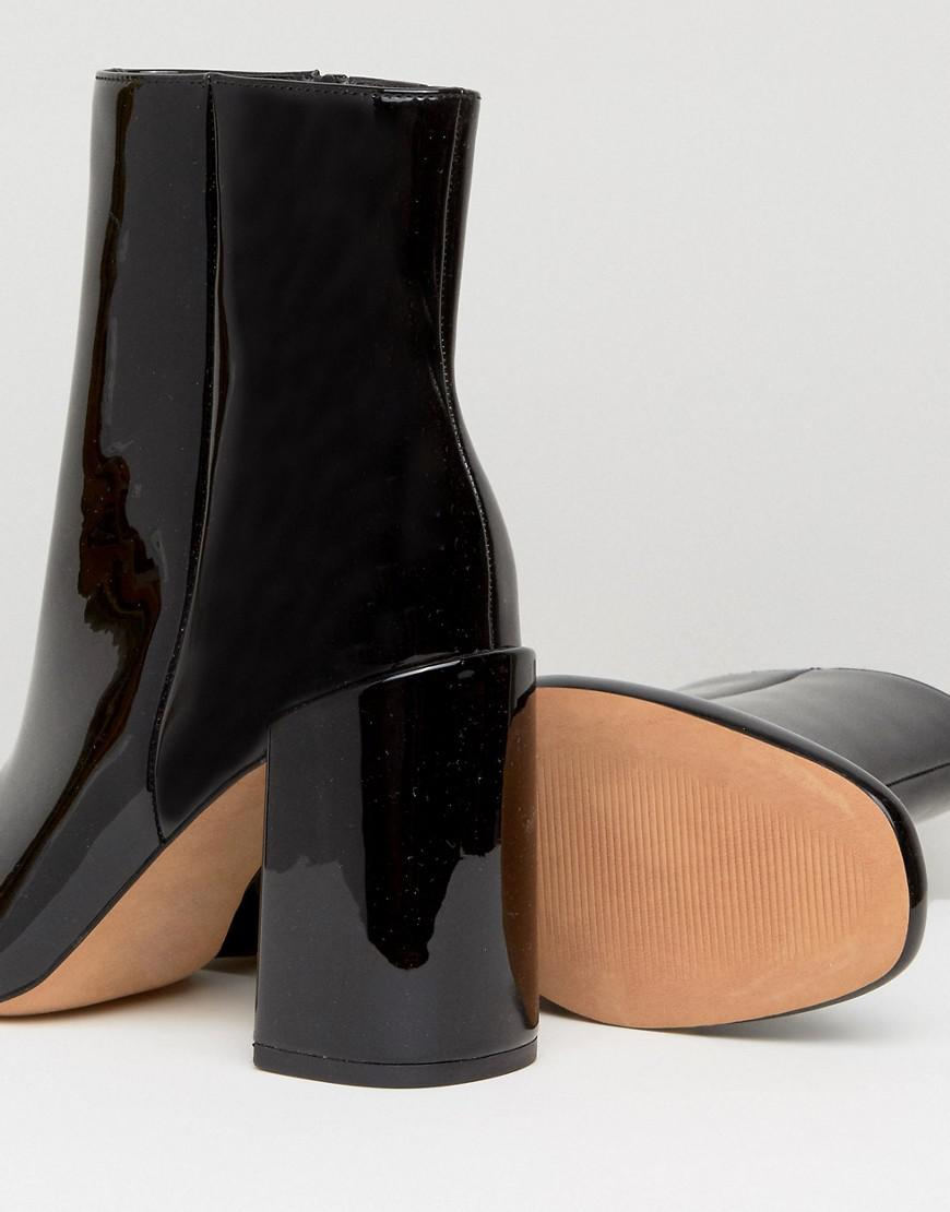 9922945a02c54 Lyst - ASOS Engage Patent Ankle Boots in Black