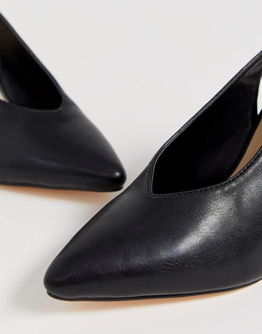 3047aeb46b03d8 Lyst - Chaussures pointues talon carr pointure large London Rebel en  coloris Noir