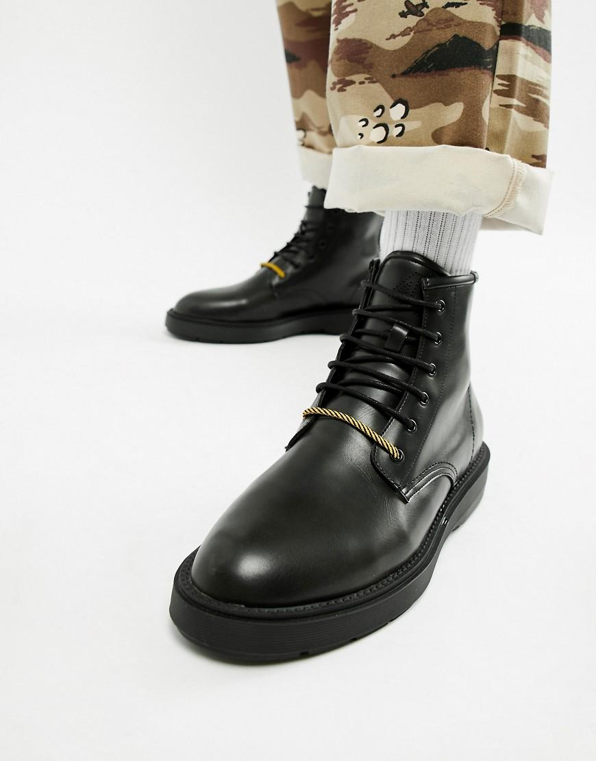 11dfef2793b Bershka Chunky Sole Lace Up Boot In Black in Black for Men - Lyst