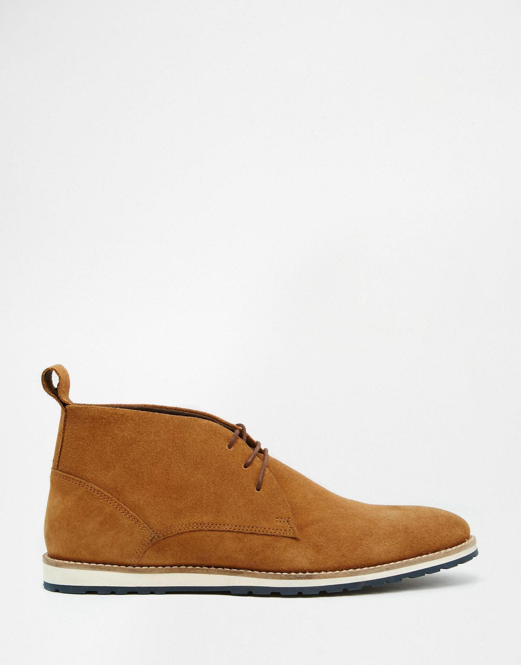 asos desert boots in suede in brown for lyst