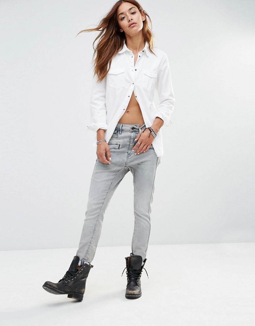 g star raw dadin 3d low rise boyfriend jeans blue in. Black Bedroom Furniture Sets. Home Design Ideas