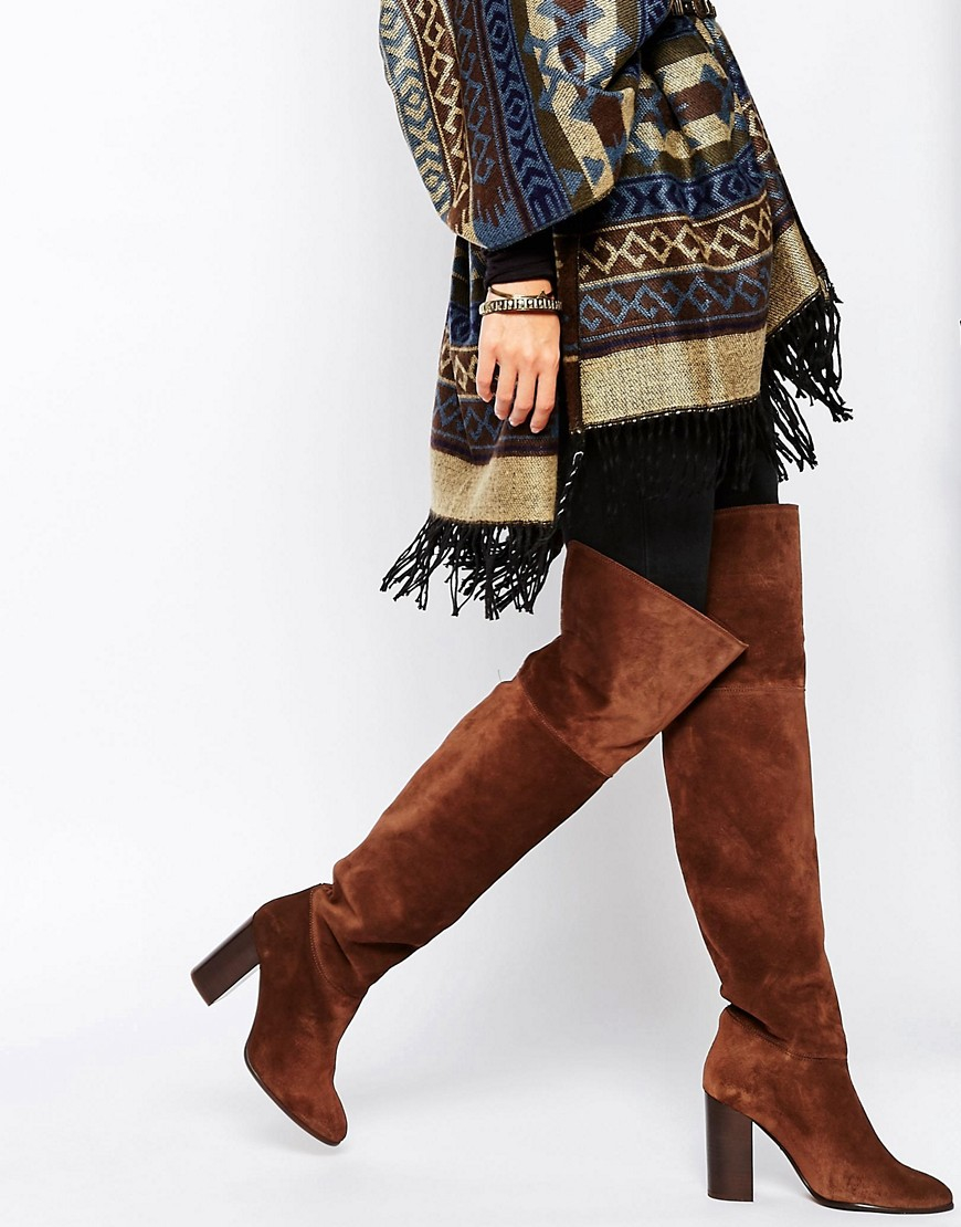 60f6c8a2f64 Lyst - Mango Suede Over The Knee Boot in Brown