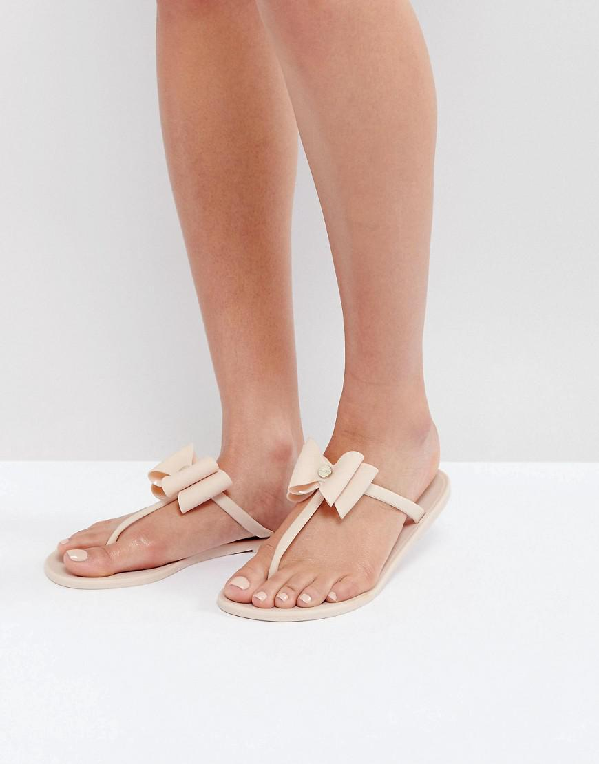 adeb97244 Lyst - Lipsy Jelly Sandals With Bow Detail in Pink