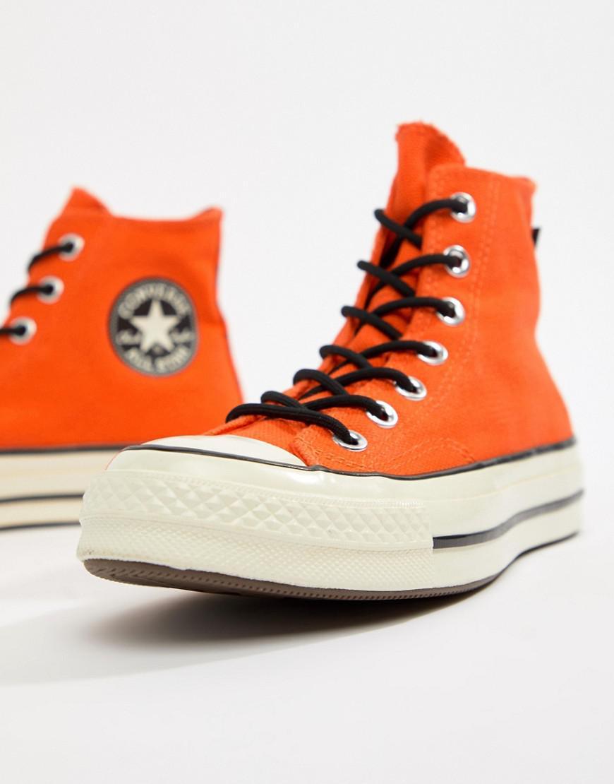 6b63b9ea3c3 Converse X Gore-tex Chuck 70 Hi Orange Waterproof Trainers in Orange - Lyst