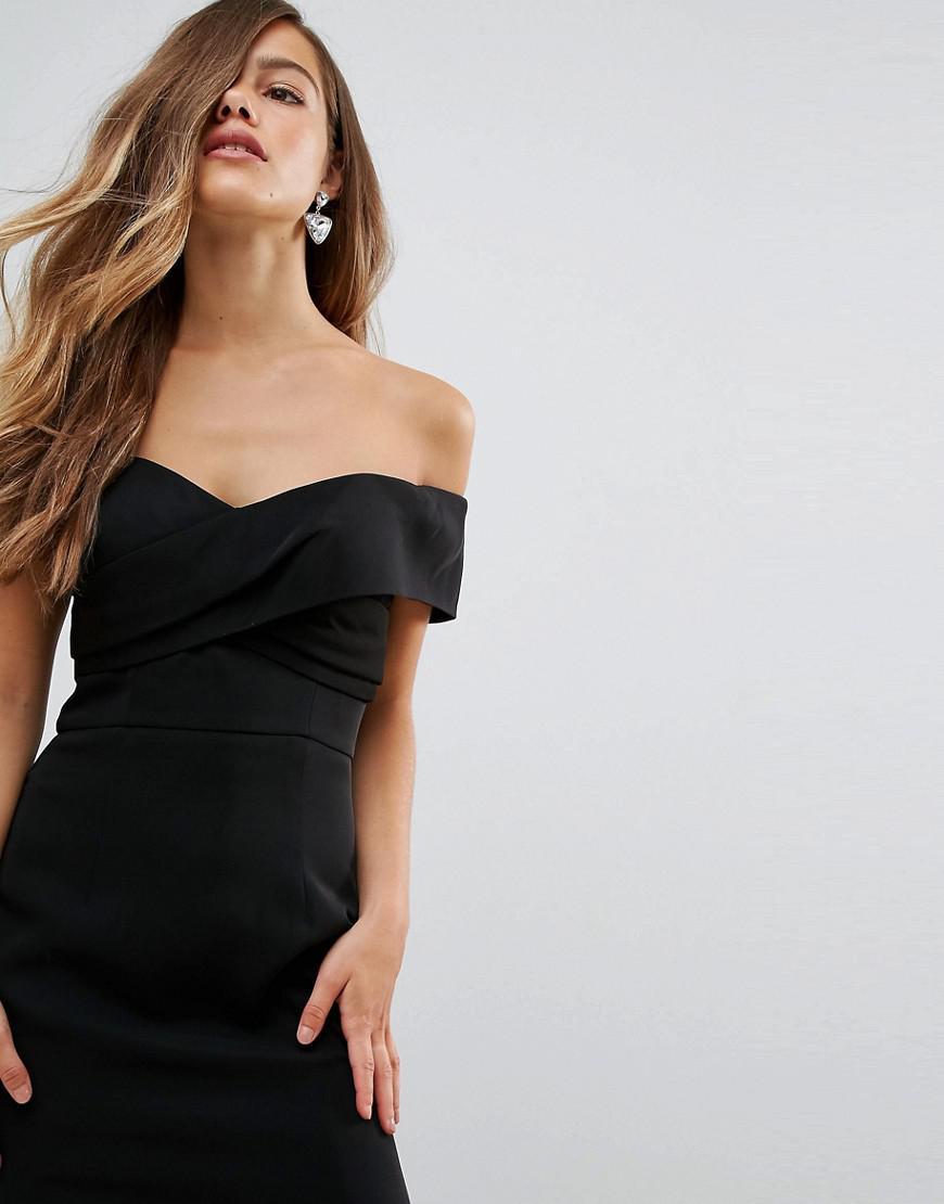 Overlay Off Shoulder Maxi Dress