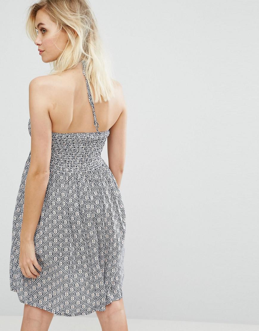 5f3b83064f6 Pia Rossini Strapless Beach Dress in Blue - Lyst