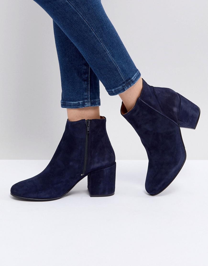 sneakernews cheap price cheap tumblr Selected Suede Ankle Boot With Chunky Heel 5a7Adc8ASt