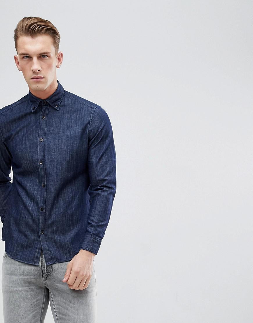 7d100f29f78 Esprit Slim Fit Denim Shirt in Blue for Men - Lyst