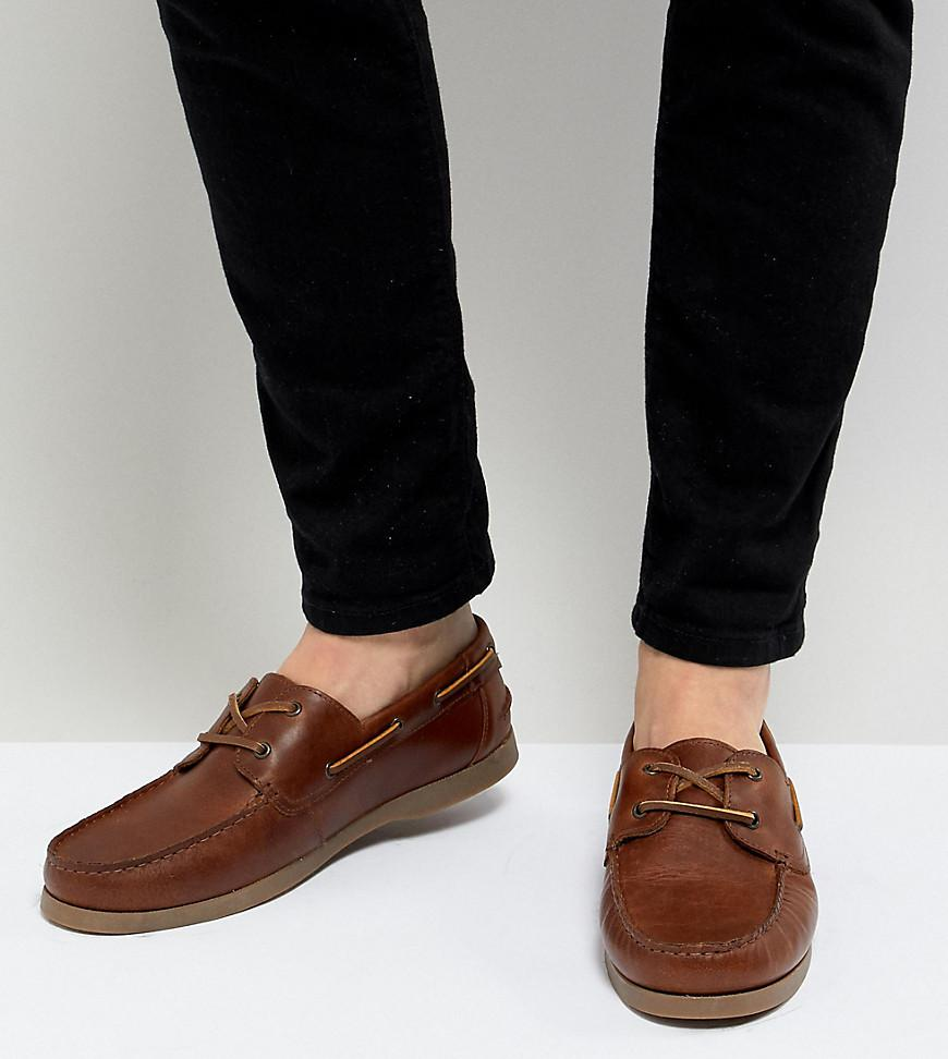 ASOS DESIGN Wide Fit vegan boat shoes in faux suede