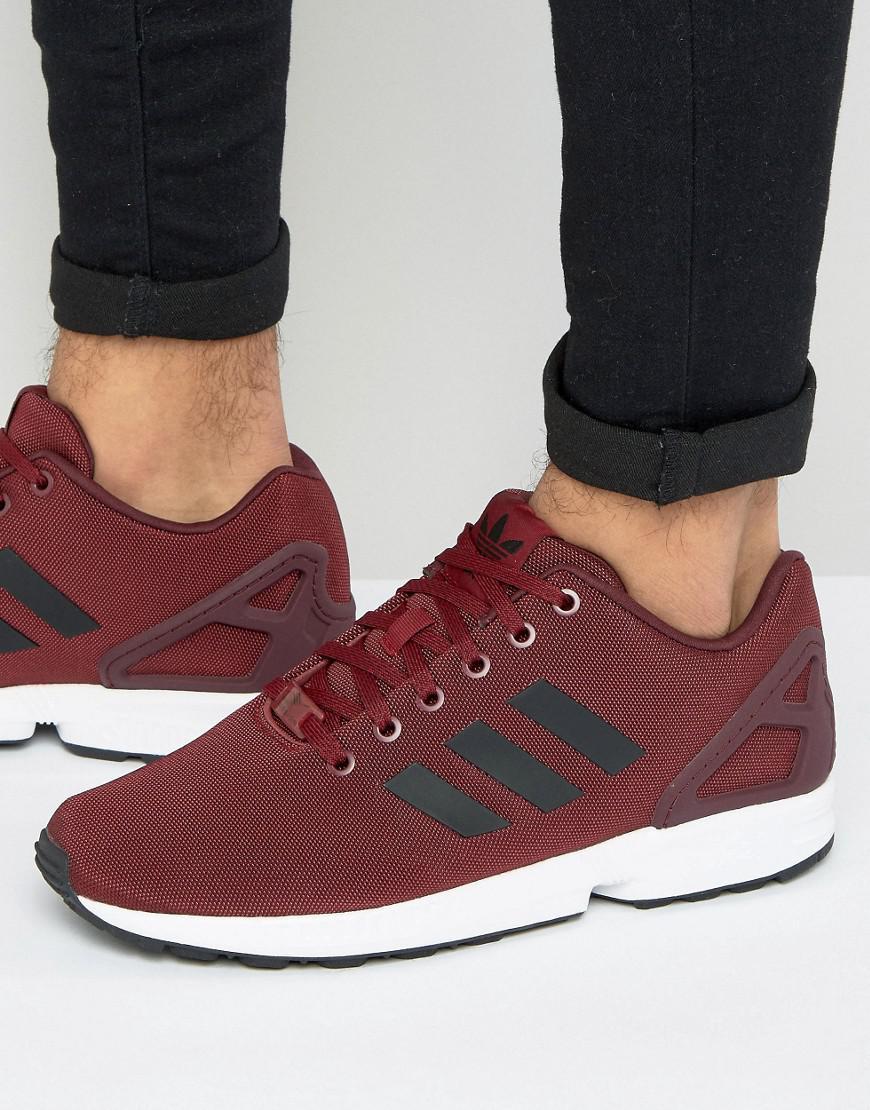 lyst adidas originali zx flusso scarpe in rosso bb2172 in rosso per gli uomini.