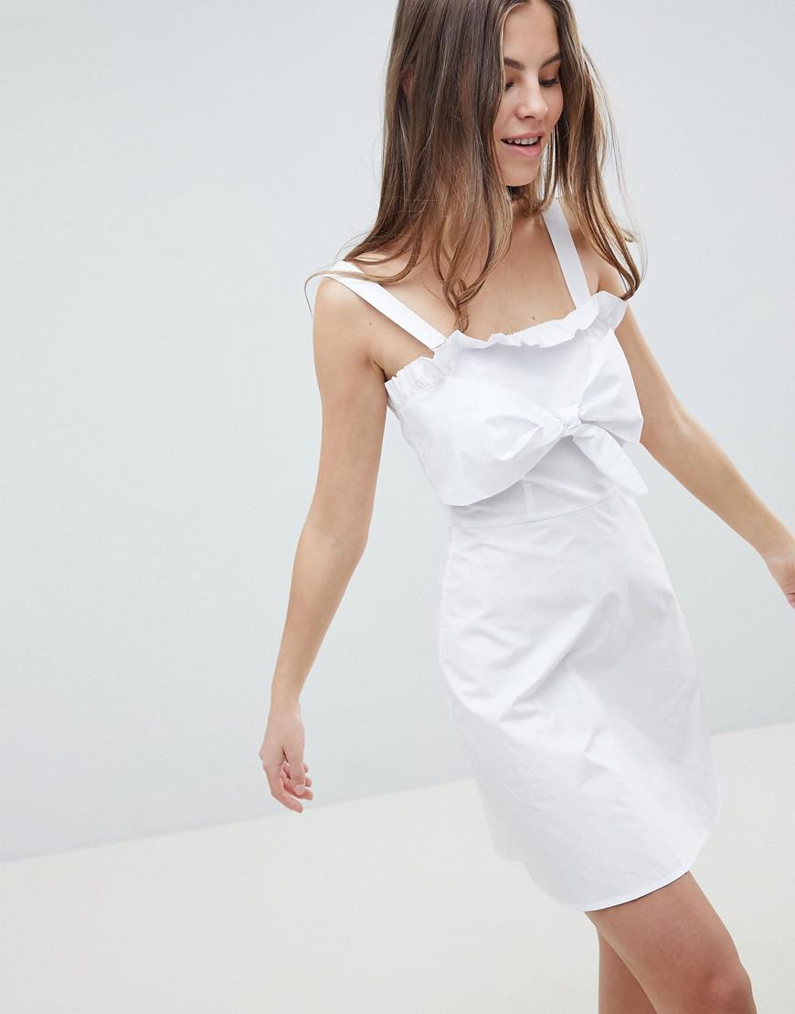 c92e140e4e4ae8 Lyst - Fashion Union Cami Sun Dress in White
