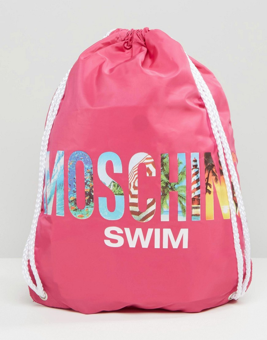 0482915c68b Love Moschino Moschino Drawstring Backpack in Pink - Lyst