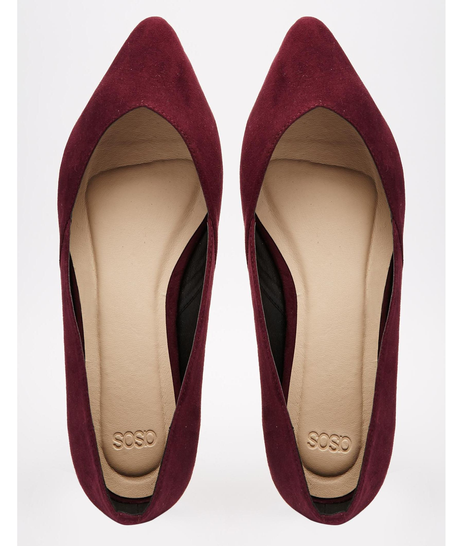asos lucy wide fit ballet flats in purple lyst