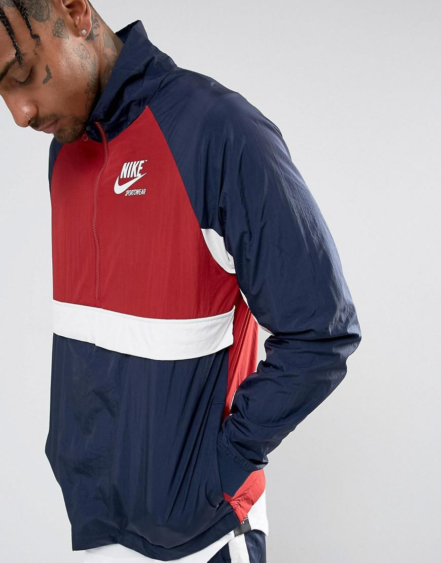 53484b5875f7 Nike Archive Half Zip Track Jacket In Navy 921743-451 in Blue for ...