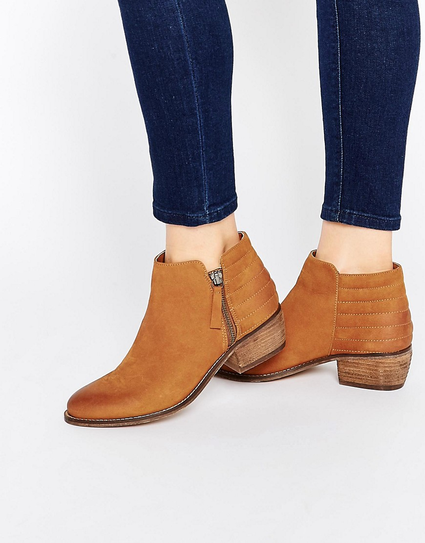 e43398516cd5 Lyst - Dune Petrie Tan Suede Ankle Boot in Brown
