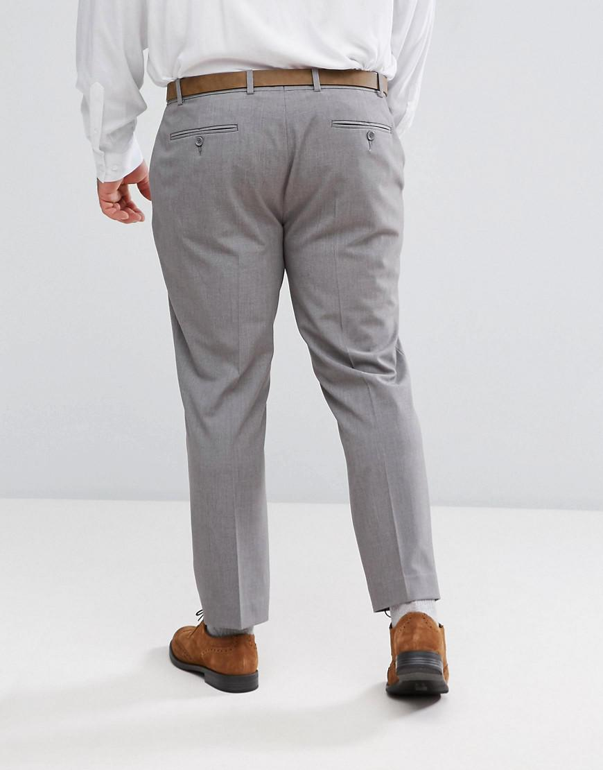 472c46383b37 Lyst - ASOS Asos Plus Super Skinny Cropped Smart Trousers In Grey in Gray  for Men