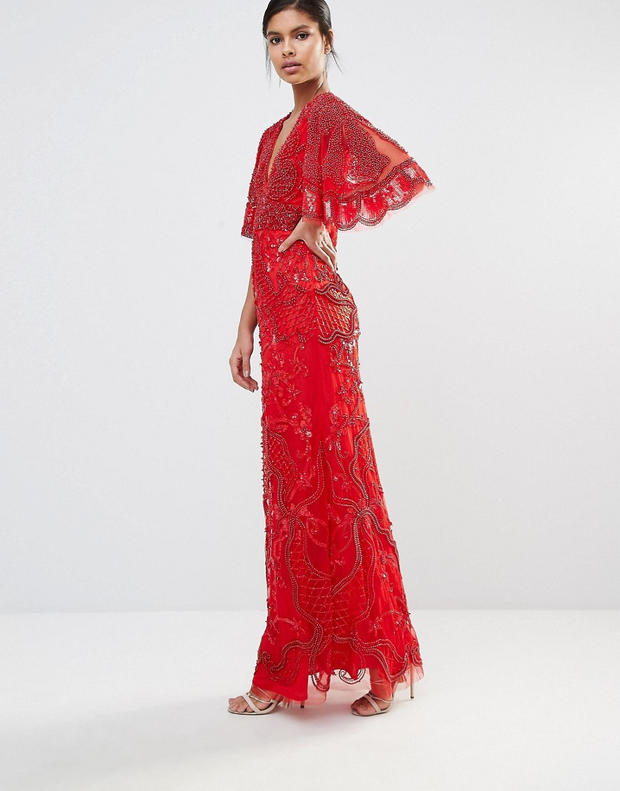 Lyst a star is born embellished kimono sleeve crepe gown for A star is born riviera maison