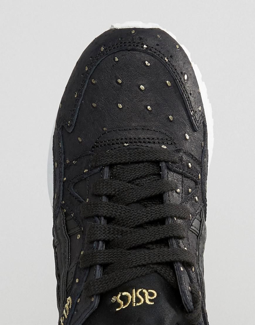 asics suede gel-lyte v sneakers with metallic dots in black