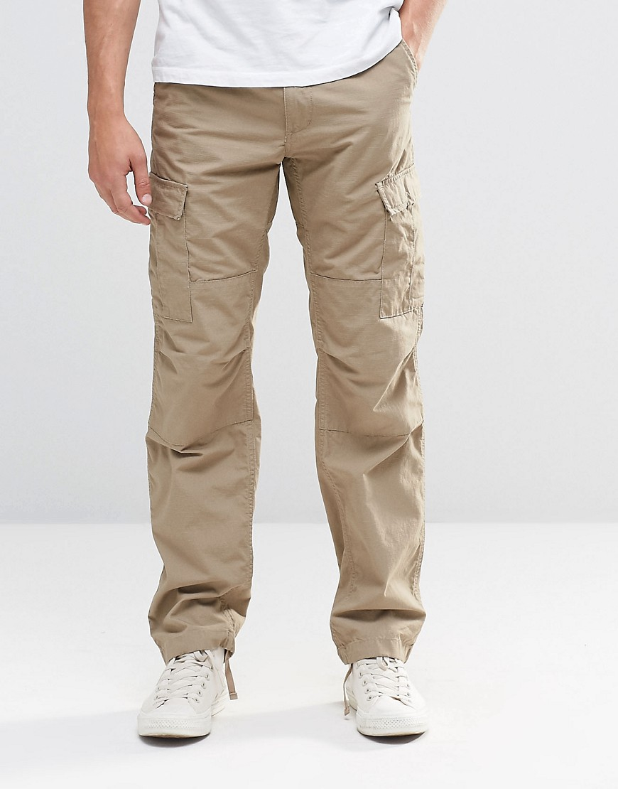carhartt wip aviation cargo pants in beige for men lyst. Black Bedroom Furniture Sets. Home Design Ideas