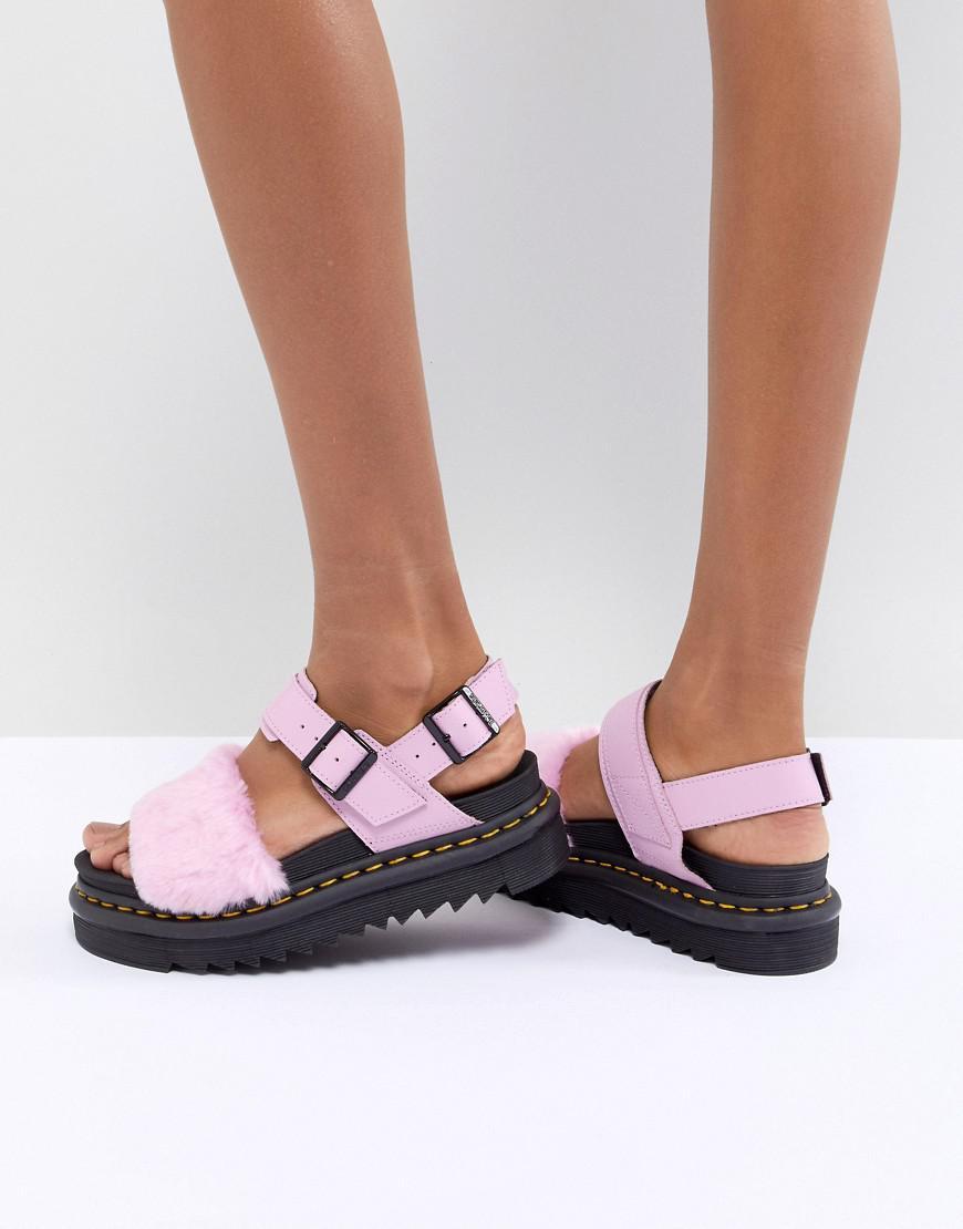 Dr. Martens Voss Fluffy Flat Sandals lpqyh8vftN