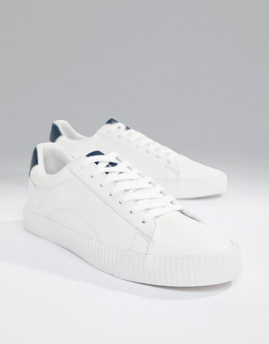 f83a84ef3 Bershka Sneaker In White With Slogan in White for Men - Lyst