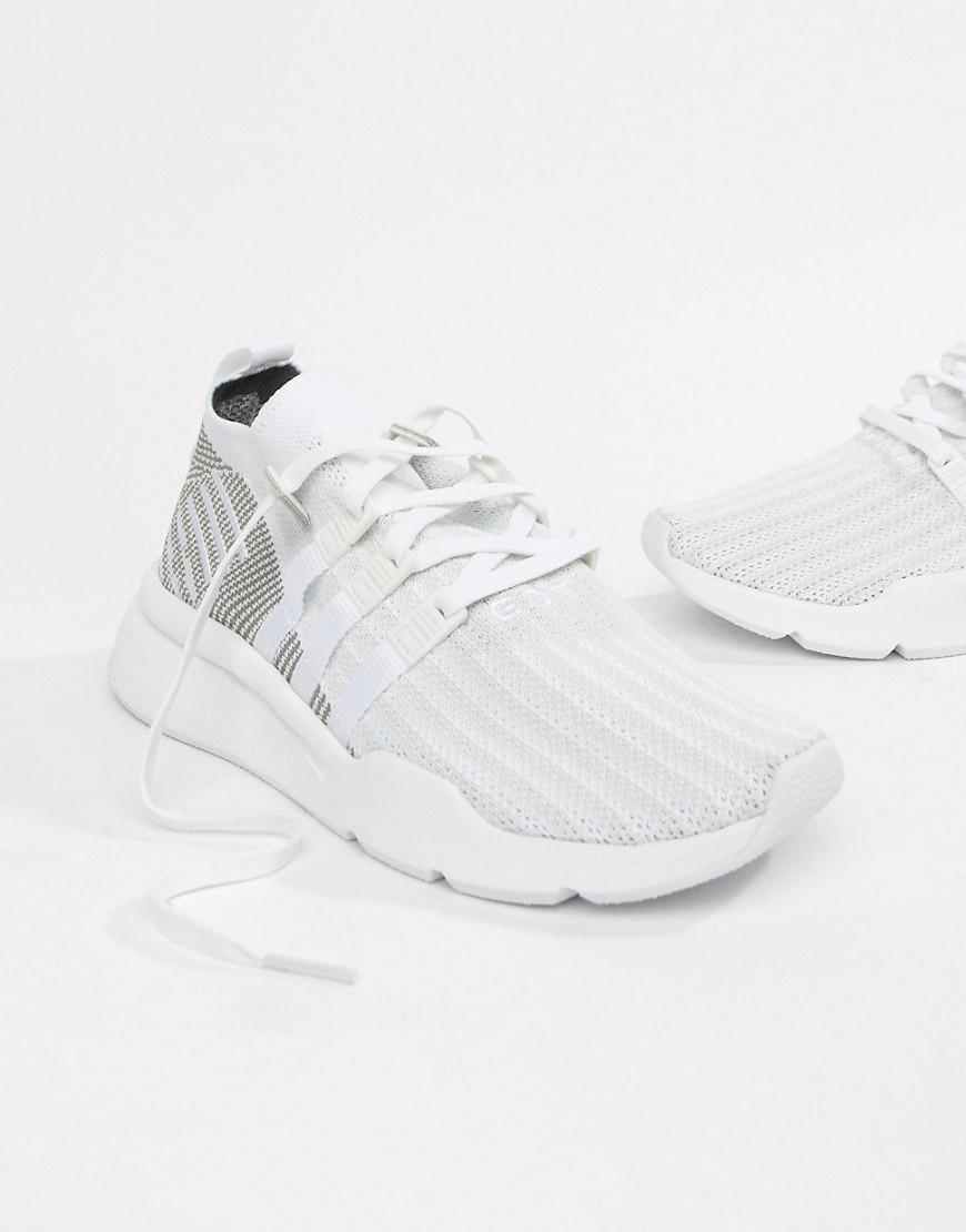 Lyst - adidas Originals Eqt Support Mid Adv Trainers In White Cq2997 ... 1e71511c485f