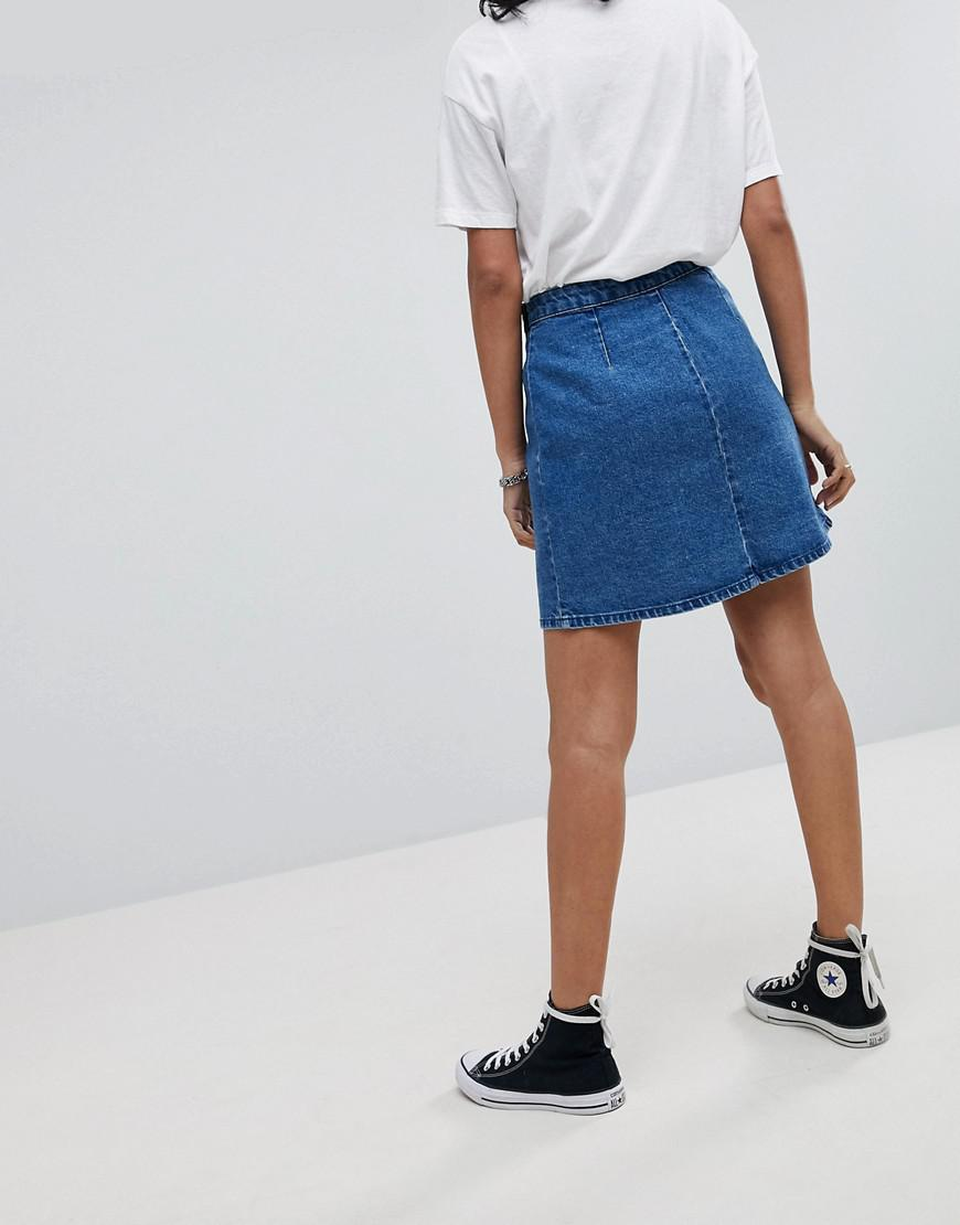 40435e0487 Asos Denim Wrap Skirt – DACC