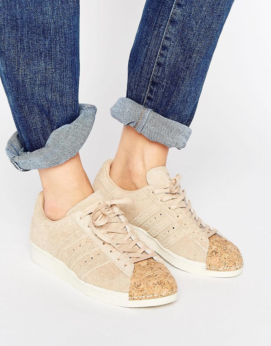 lyst adidas superstar degli anni '80 gli originali nudo scarpe con tappo la
