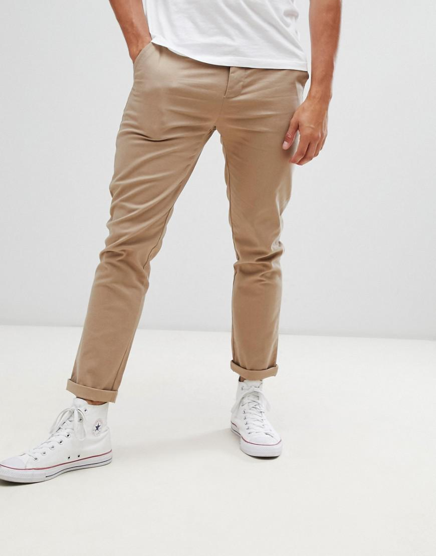 e97bc135af17ed ASOS Slim Chinos In Stone in Natural for Men - Lyst
