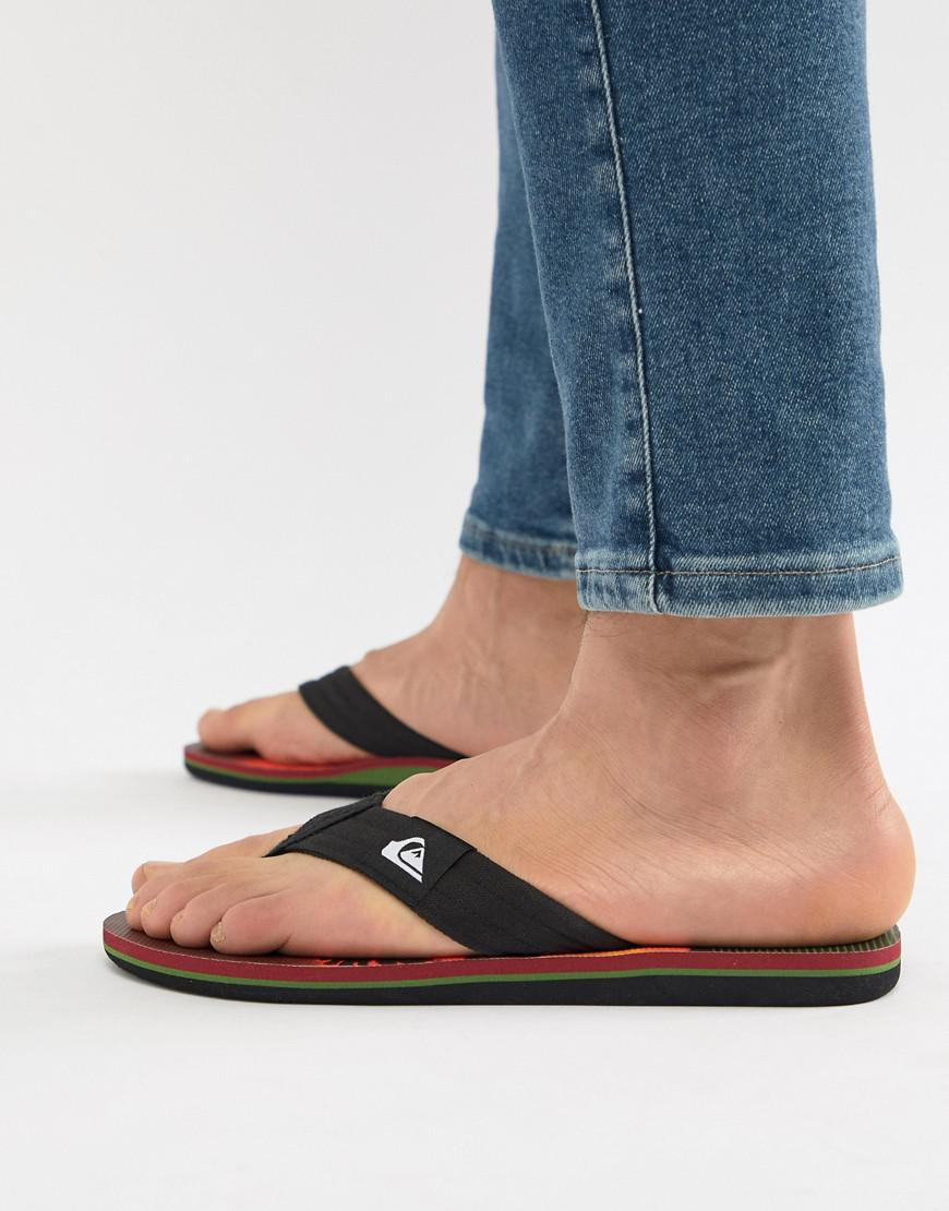 Molokai Flip Flop In Sunset Palm Tree Print - Blk/orng Quiksilver sOXg81