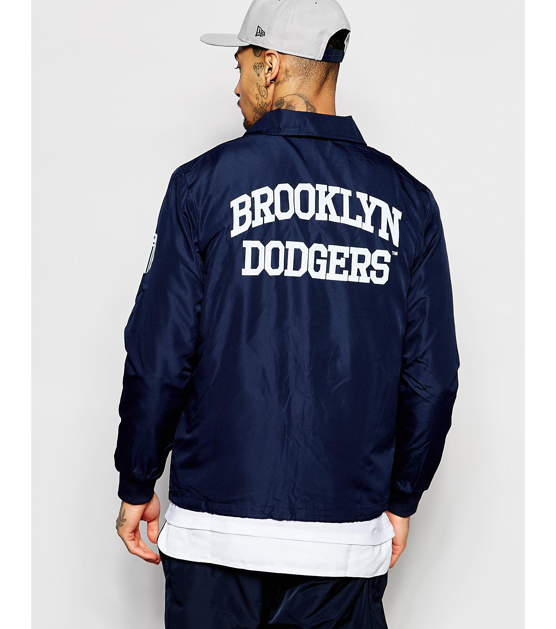 Lyst Majestic Filatures Brooklyn Dodgers Coach Jacket In