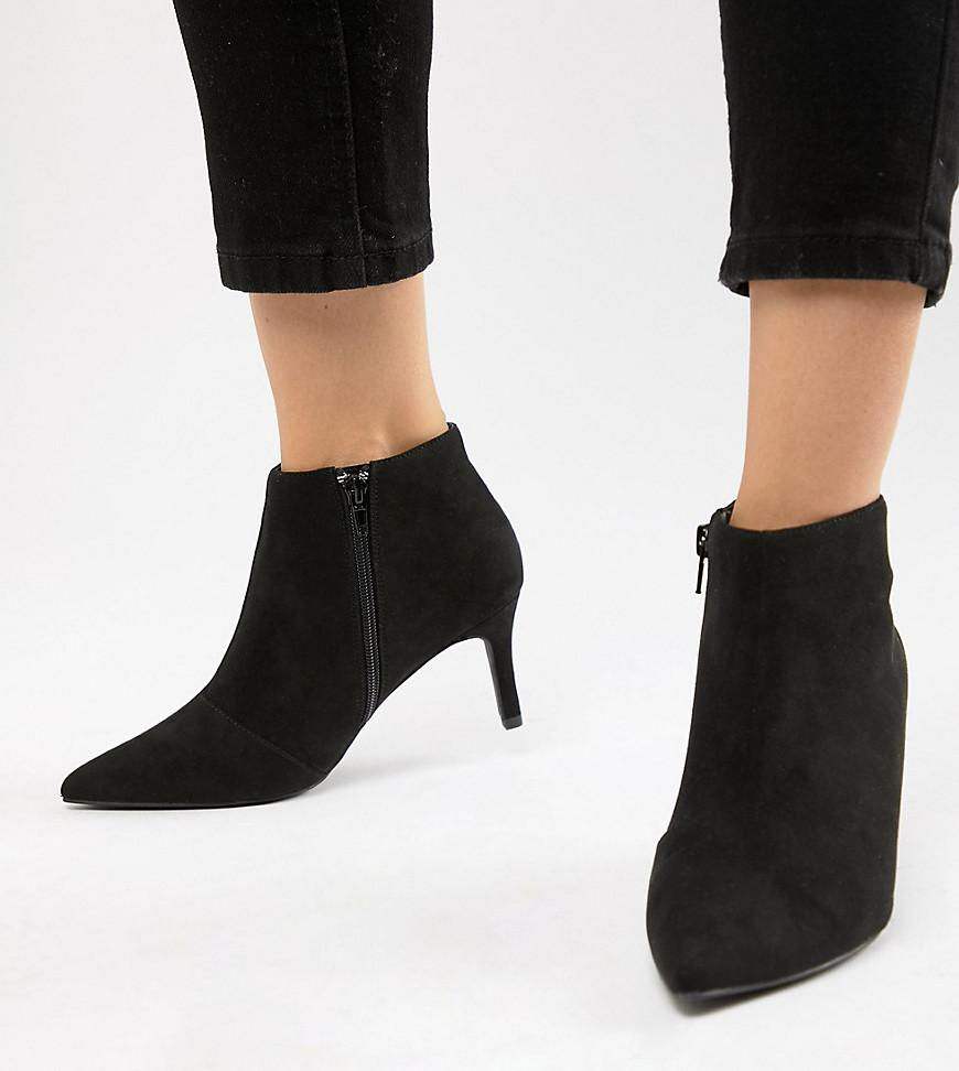 a8011e23af77 Lyst - New Look Heeled Ankle Boot in Black