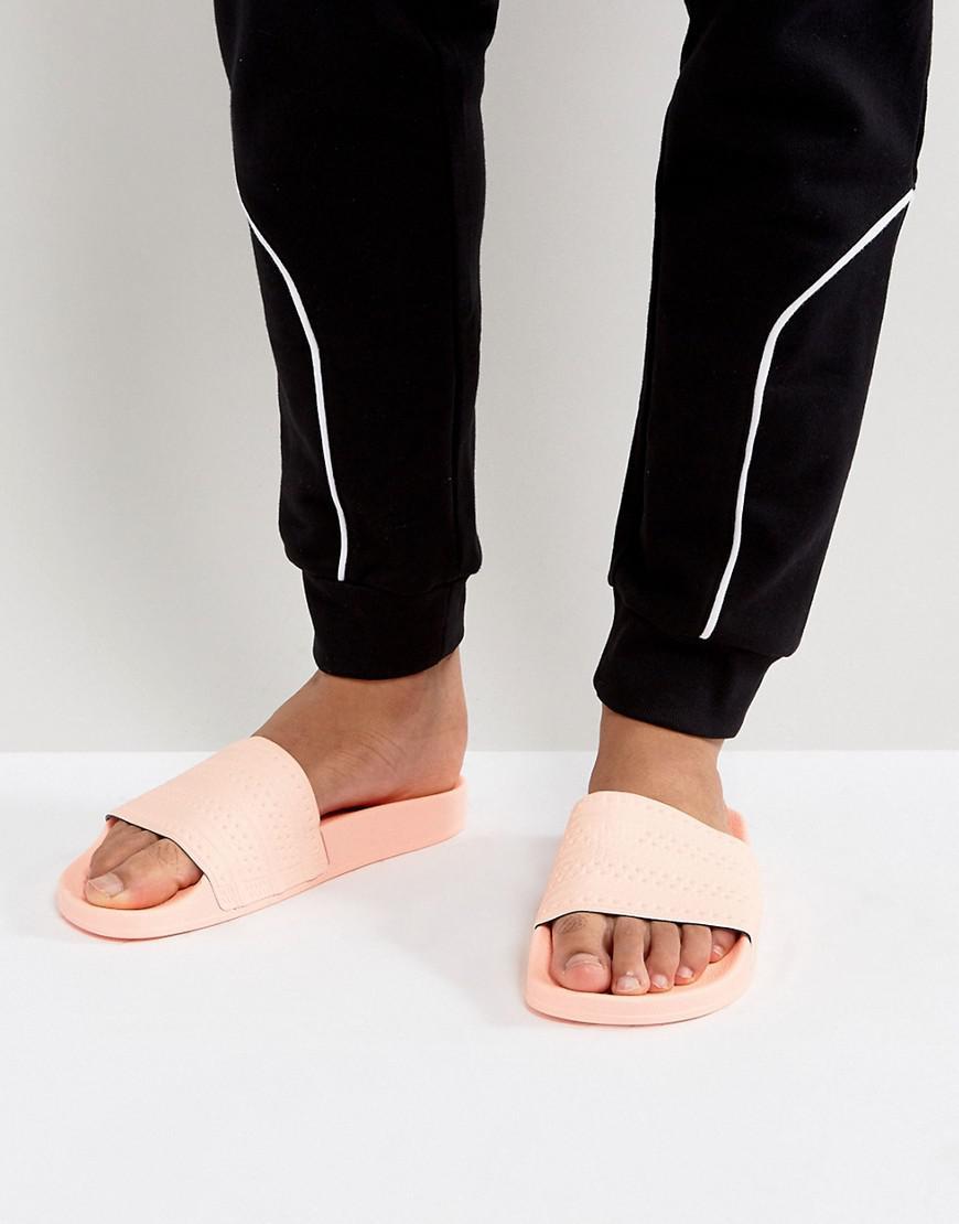 1472278a00725 Lyst - adidas Originals Adilette Slides In Pink Ba7538 in Pink for Men