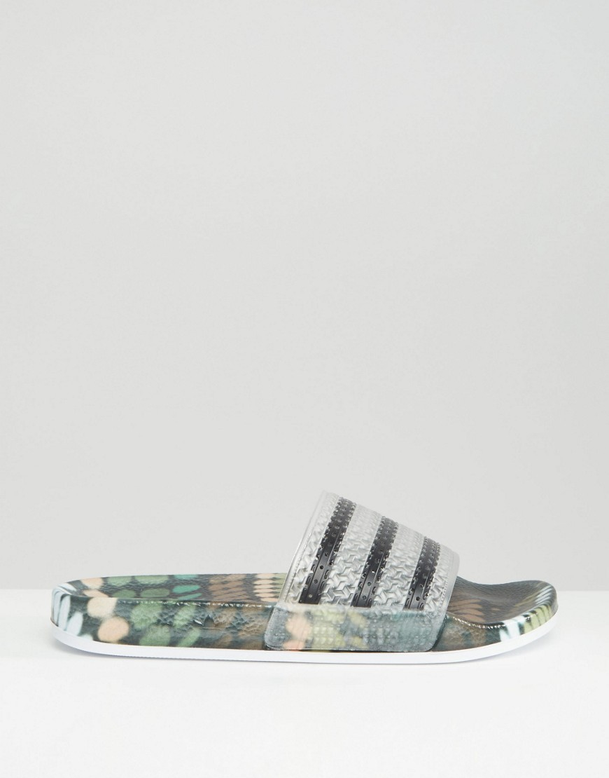 555812d244fa Lyst - adidas Originals Originals X Rita Ora Slider Flat Sandals in ...