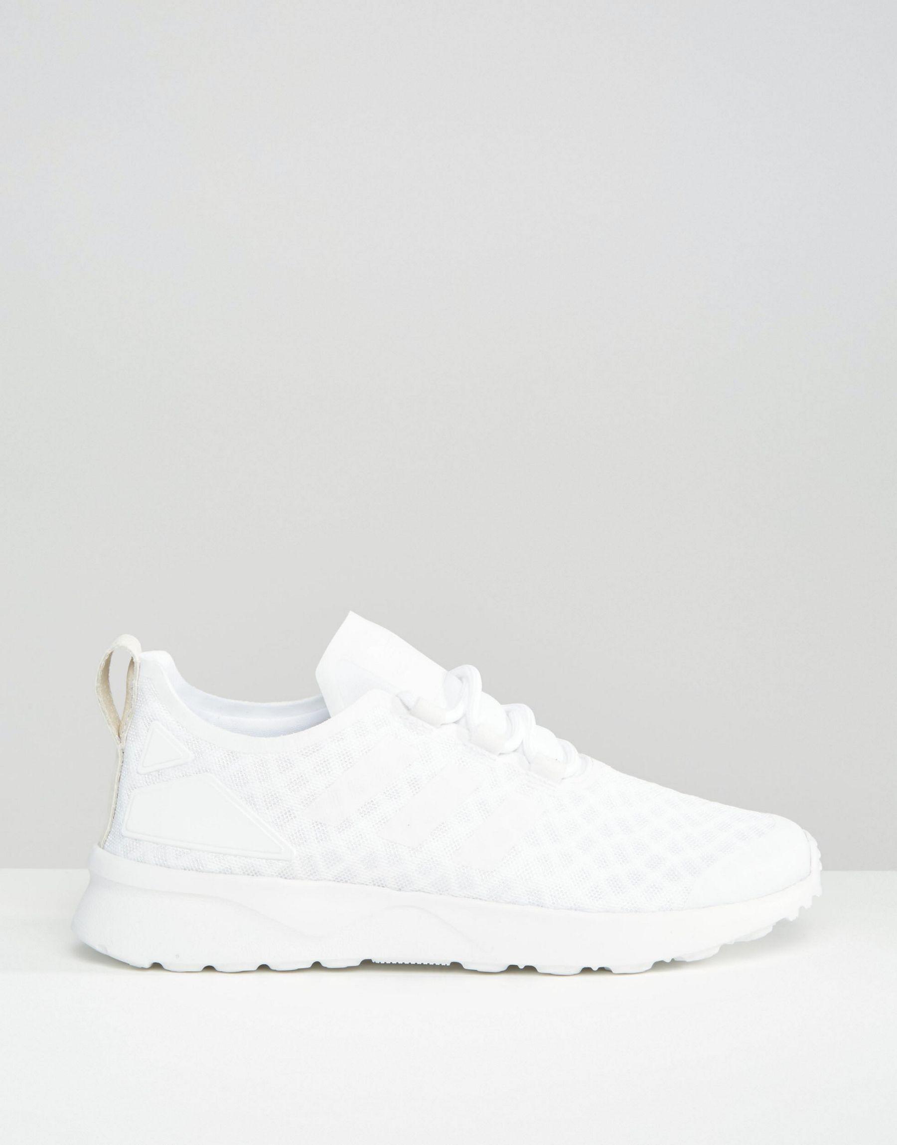 Lyst - adidas Originals Originals Off White Zx Flux Verve Mesh ... e10954c34f