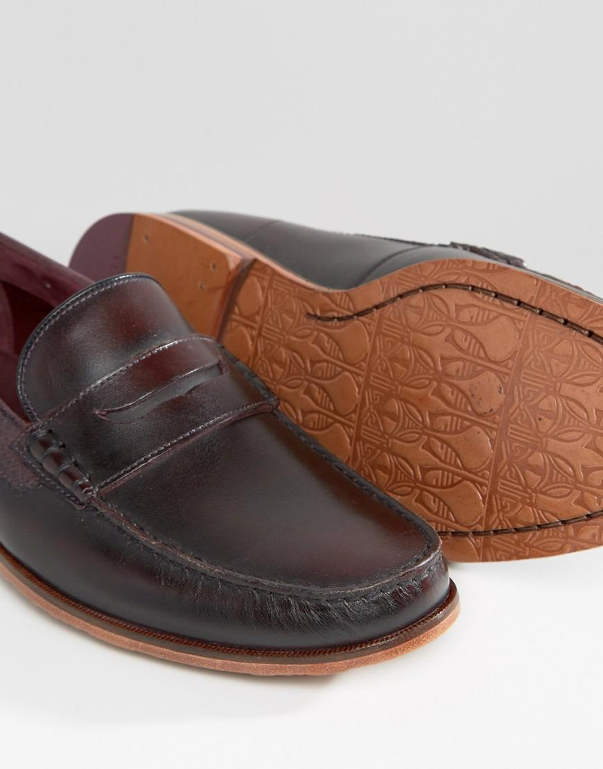 f8d361c384c30 Lyst - Ted Baker Miicke Loafers in Red for Men