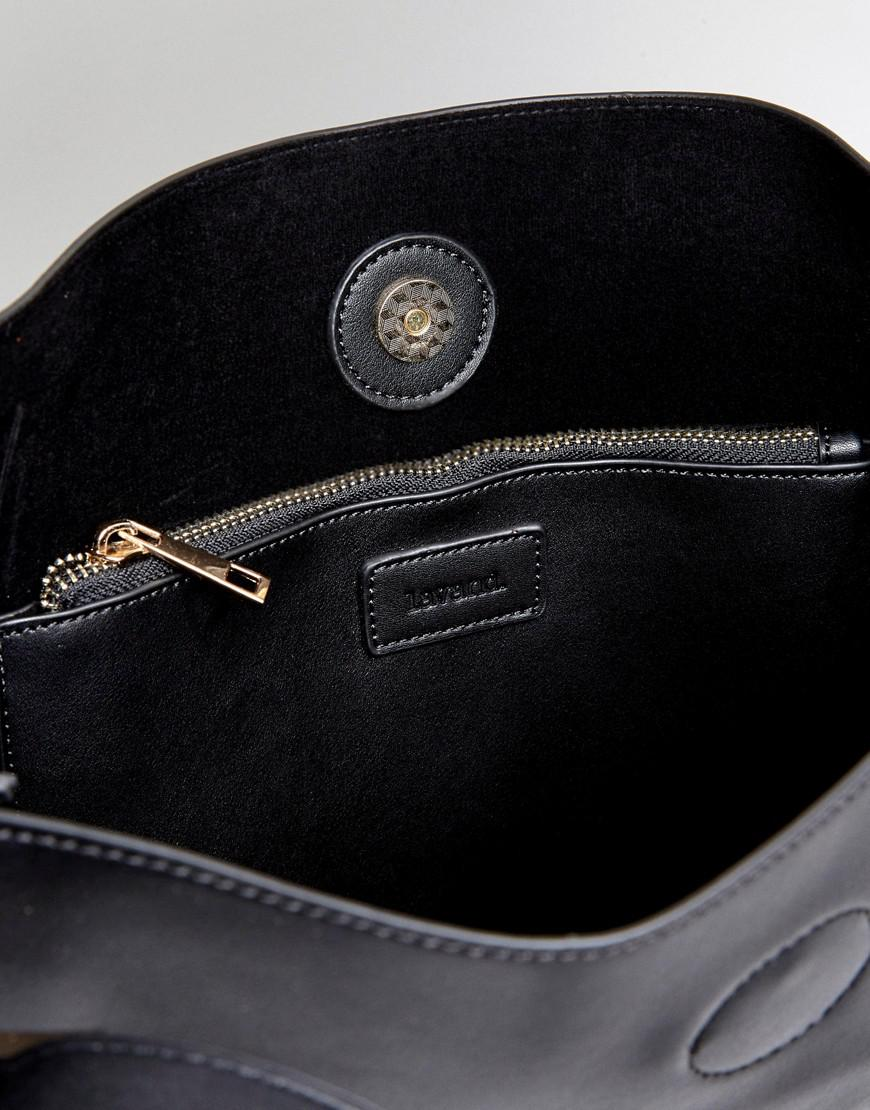 Slouchy Shoulder Bag - Black Lavand 3vZfm