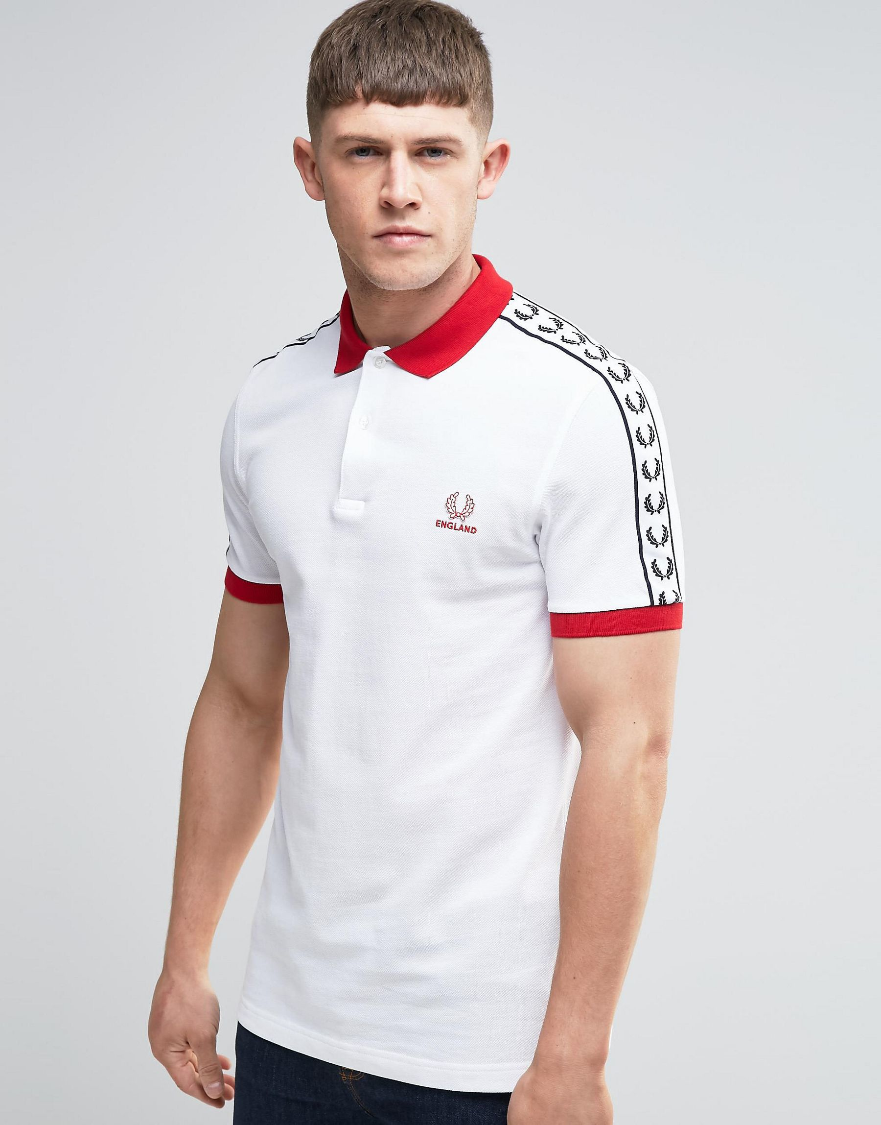 Lyst - Fred Perry England Polo Shirt In White in White for Men